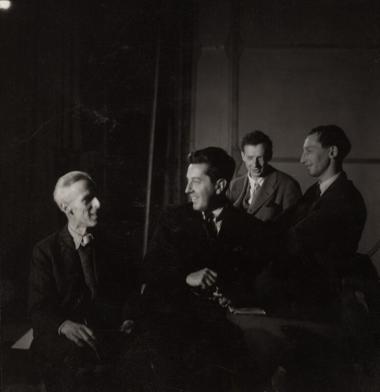 John Piper; Sir Frederick Ashton; Benjamin Britten and Eric John Crozier, by Edward Mandinian, 1947 - NPG x15211 - © V&A Images