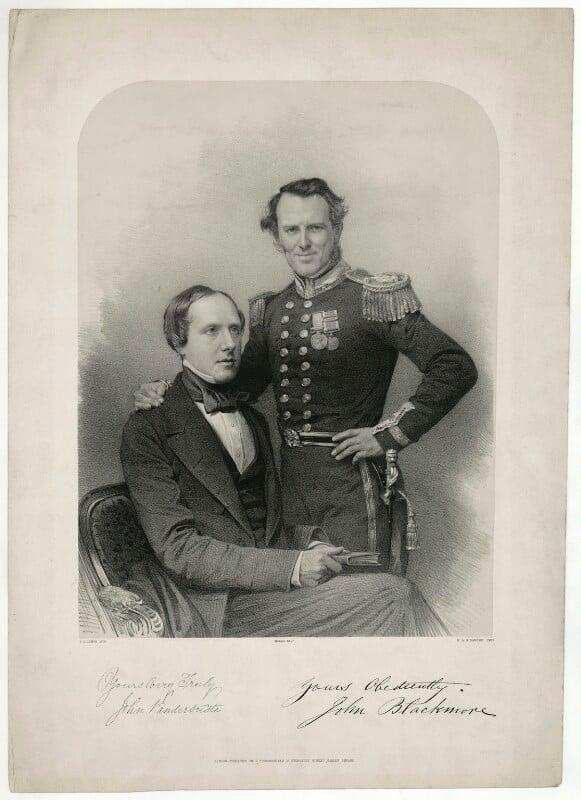 John Vandersuste; John Blackmore, by James Henry Lynch, after  John Jabez Edwin Mayall, 1850s-1860s - NPG D31803 - © National Portrait Gallery, London