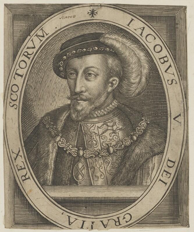 James V of Scotland, after Unknown artist, published 1618 - NPG D31812 - © National Portrait Gallery, London