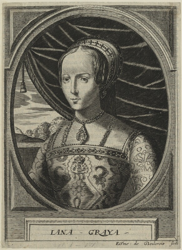 Lady Jane Grey, by Edme de Boulonois, possibly late 17th century - NPG D24988 - © National Portrait Gallery, London