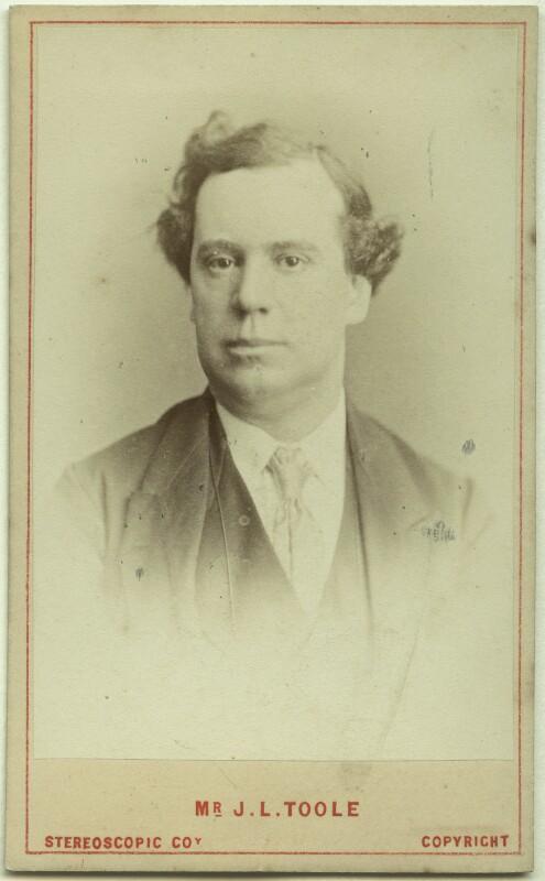 John Lawrence Toole, by London Stereoscopic & Photographic Company, circa 1874 - NPG Ax46239 - © National Portrait Gallery, London