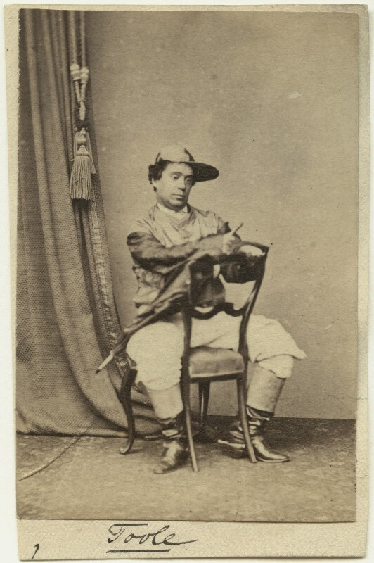 John Lawrence Toole as Mr Tittums in 'The Steeple Chase; or, In the Pigskin', by Unknown photographer, 1865 - NPG x26920 - © National Portrait Gallery, London