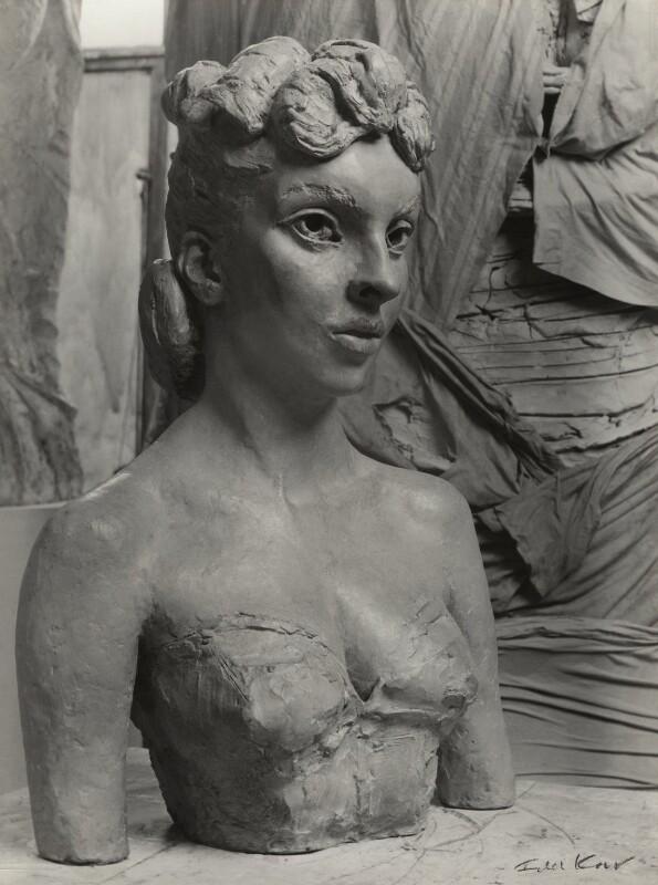 Bust of Gina Lollobrigida by Sir Jacob Epstein, by Ida Kar, 1952 - NPG x129568 - © National Portrait Gallery, London