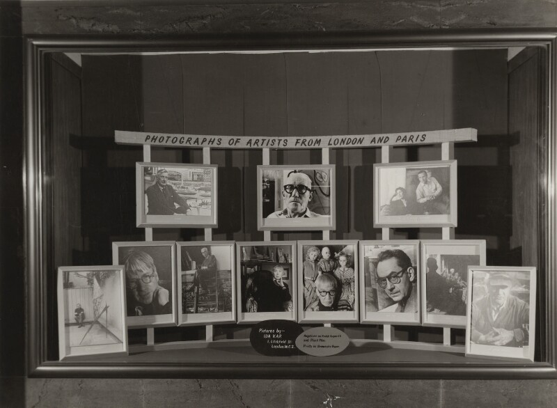 Display Window for Ida Kar's exhibition, 'Forty Artists from London and Paris', Gallery One, by Ida Kar, 1954 - NPG x129575 - © National Portrait Gallery, London