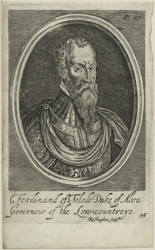 Fernando Alvarez de Toledo, 3rd Duke of Alba, by Robert Vaughan, probably 17th century - NPG D25002 - © National Portrait Gallery, London