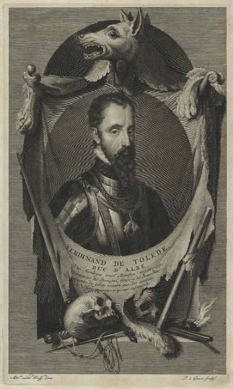 Fernando Alvarez de Toledo, 3rd Duke of Alba, by Pieter Stevens van Gunst, after  Adriaen van der Werff, probably late 17th to early 18th century - NPG D25003 - © National Portrait Gallery, London