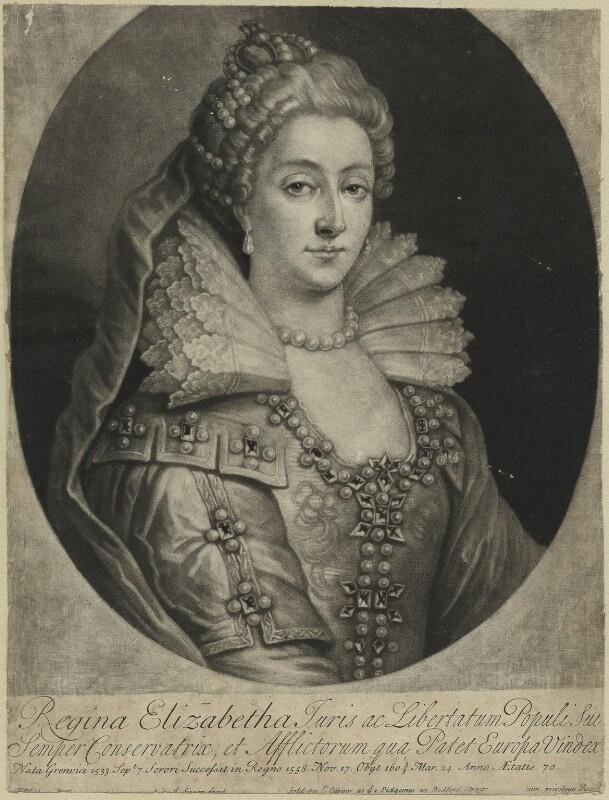 Queen Elizabeth I, by John Simon, early 18th century - NPG D25027 - © National Portrait Gallery, London