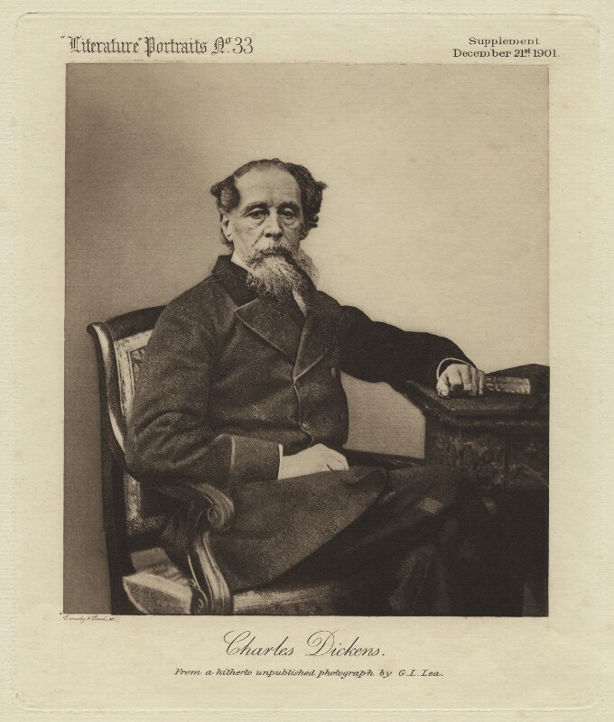 Charles Dickens, by Crowdy & Loud, after  G.L. Lea, or after  Mason & Co (Robert Hindry Mason), published 21 December 1901 (1863) - NPG x28075 - © National Portrait Gallery, London