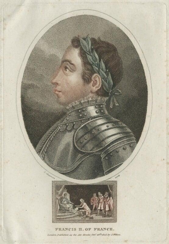 François II (Francis II), King of France, by John Chapman, published 1805 - NPG D25046 - © National Portrait Gallery, London