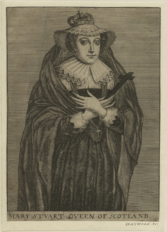 Mary, Queen of Scots, possibly by Richard Gaywood, 17th century - NPG D25051 - © National Portrait Gallery, London