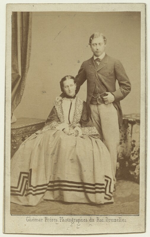 Queen Alexandra; King Edward VII, by Ghémar Frères, 9 September 1862 - NPG x14384 - © National Portrait Gallery, London