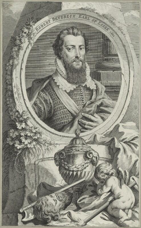 Robert Devereux, 2nd Earl of Essex, possibly by Jacobus Houbraken, after  Isaac Oliver, 1817 - NPG D25134 - © National Portrait Gallery, London