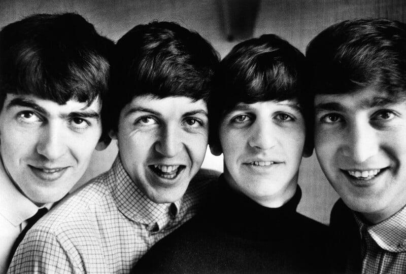 The Beatles (George Harrison; Paul McCartney; Ringo Starr; John Lennon), by Norman Parkinson, Summer 1963 - NPG x128893 - © Norman Parkinson Archive