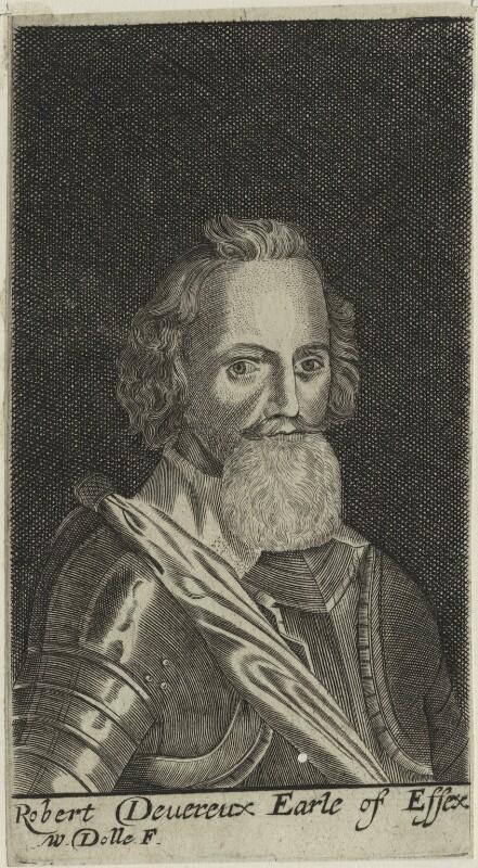 Robert Devereux, 2nd Earl of Essex, by Walter Dolle, after  Magdalena de Passe, after  Willem de Passe, published 1672 (1620) - NPG D25138 - © National Portrait Gallery, London