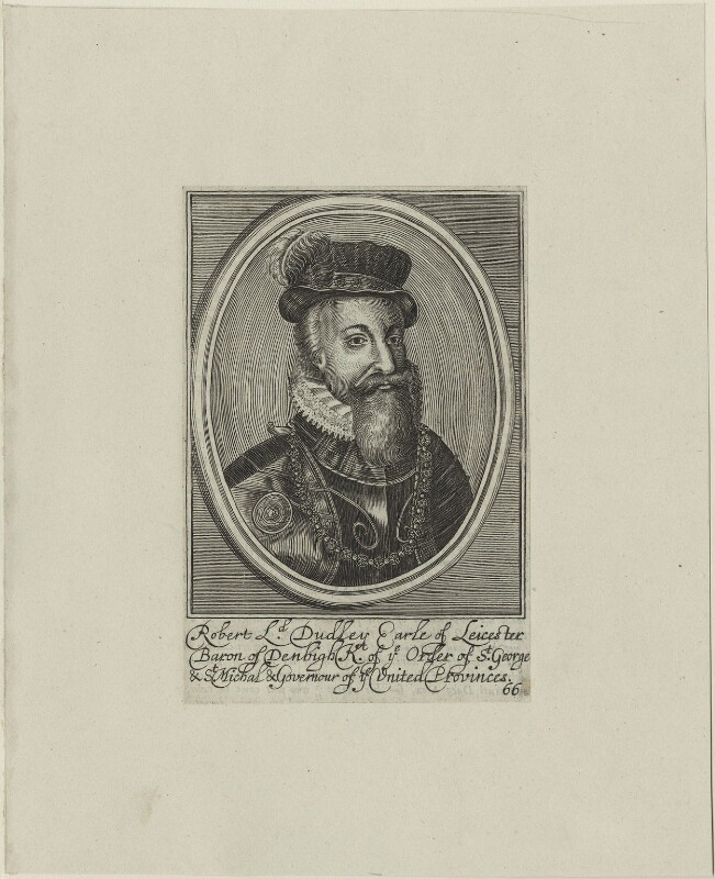 Robert Dudley, 1st Earl of Leicester, by Unknown artist, 17th century - NPG D25142 - © National Portrait Gallery, London