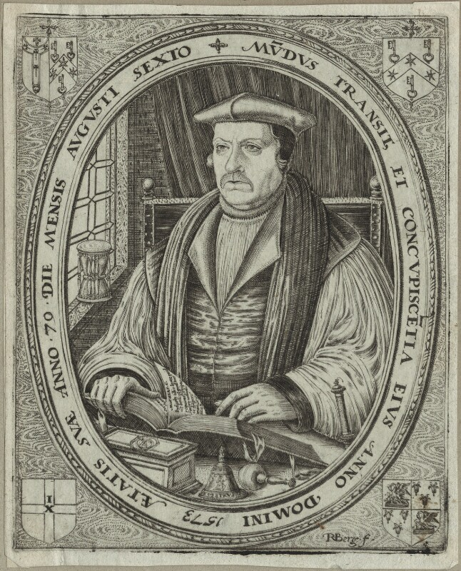 Matthew Parker, by Remigius Hogenberg, published 1573 - NPG D25183 - © National Portrait Gallery, London