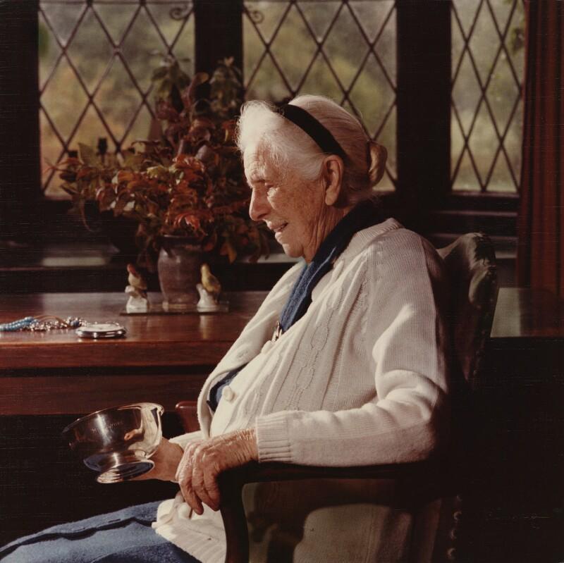 Constance Mary Katherine Applebee, by Bernard Lee ('Bern') Schwartz, October 1975 - NPG x1601 - © Bernard Lee Schwartz Foundation