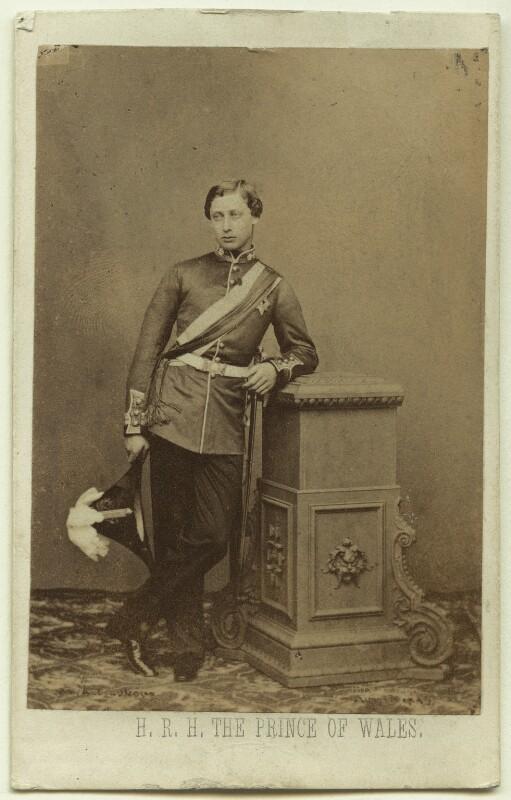 King Edward VII when Prince of Wales, by John Jabez Edwin Mayall, 1859 - NPG Ax39787 - © National Portrait Gallery, London