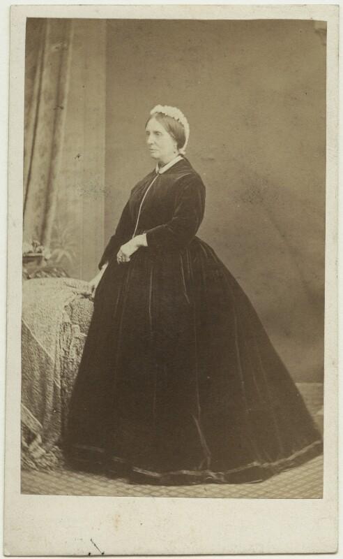 Isabella (née Bunbury), Lady Roberts, by J. Fisher, 1860s - NPG x22057 - © National Portrait Gallery, London