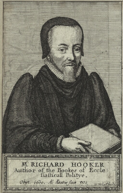 Richard Hooker, by Wenceslaus Hollar, mid to late 17th century - NPG D25245 - © National Portrait Gallery, London