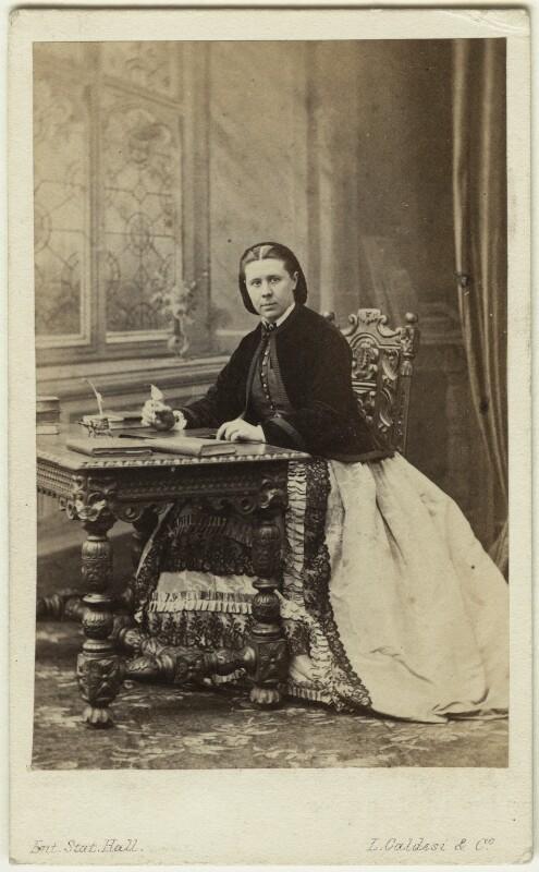 Emily Faithfull, by Leonida Caldesi, 1860s - NPG x46997 - © National Portrait Gallery, London
