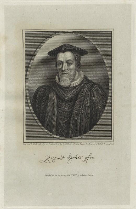 Richard Hooker, by James Fittler, after  William Skelton, published 1819 - NPG D25249 - © National Portrait Gallery, London