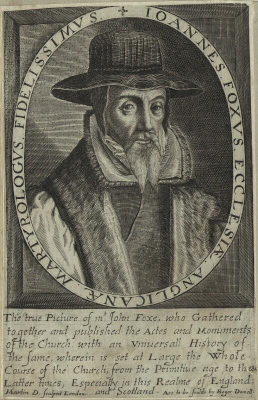 John Foxe, by Martin Droeshout, 1620s-1630s - NPG D25275 - © National Portrait Gallery, London