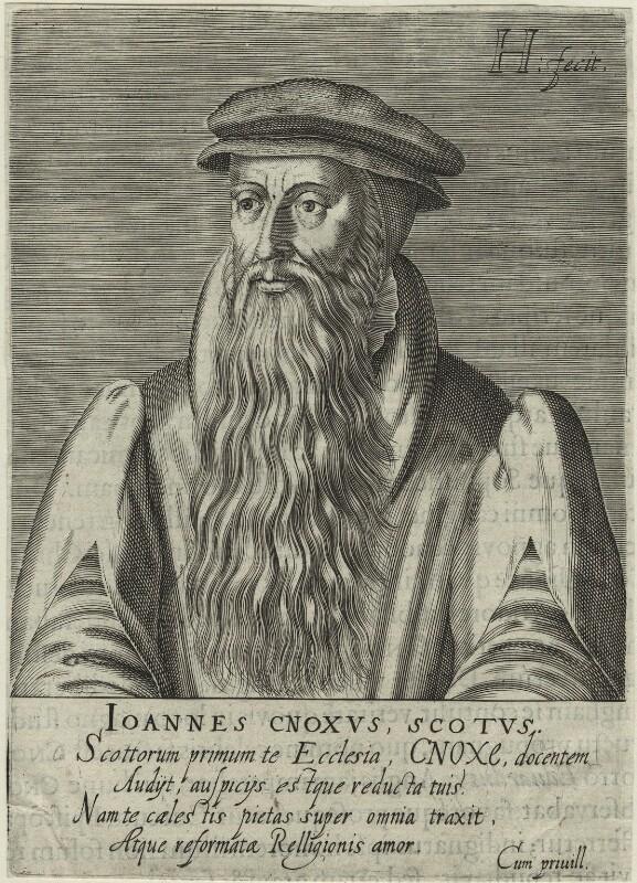 John Knox, by Hendrik Hondius (Hond), after  Adrian Vanson (van Son), 1602 - NPG D25284 - © National Portrait Gallery, London