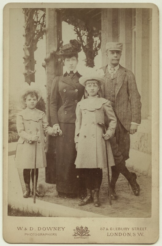 The Duke and Duchess of Fife and their daughters, by William Edward Downey, for  W. & D. Downey, early 1900s - NPG x29769 - © National Portrait Gallery, London