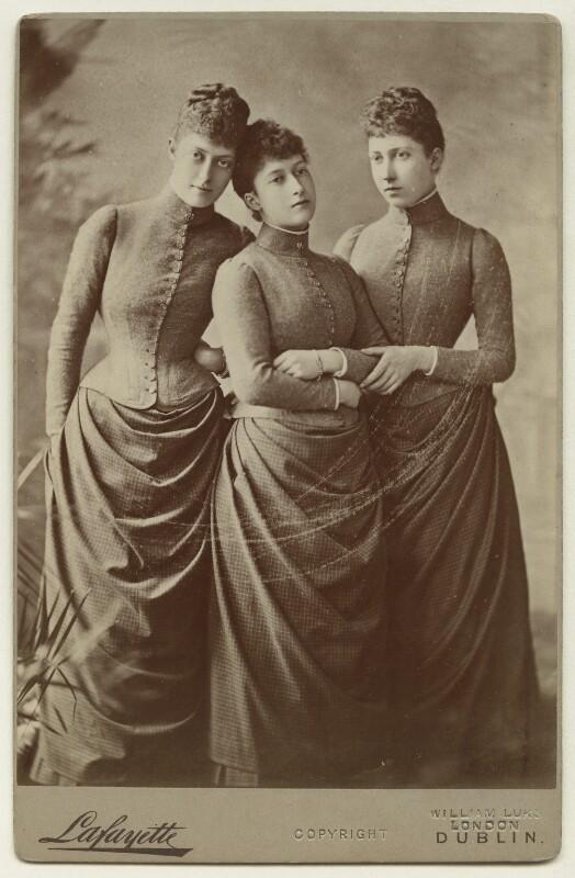 The daughters of King Edward VII, by Lafayette (Lafayette Ltd), 1887 - NPG x36203 - © National Portrait Gallery, London