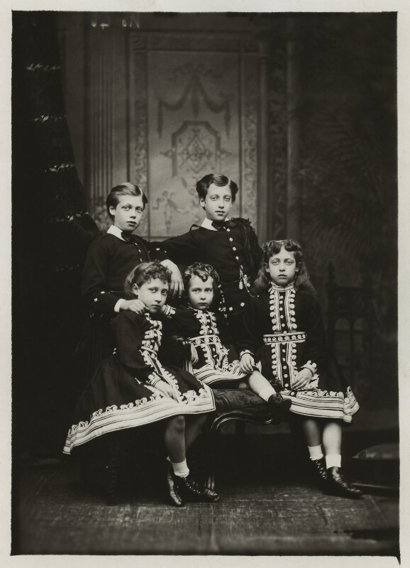 The children of King Edward VII, by Alexander Bassano, 1875 - NPG x129650 - © National Portrait Gallery, London
