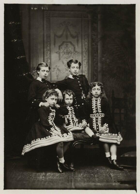 The children of King Edward VII, by Alexander Bassano, 1875 - NPG x129650 - © National Portrait Gallery, London