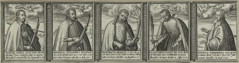 Renowned Jesuits, after Unknown artist, 1608 - NPG D25325 - © National Portrait Gallery, London