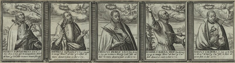 Renowned Jesuits, after Unknown artist, 1608 - NPG D25322 - © National Portrait Gallery, London
