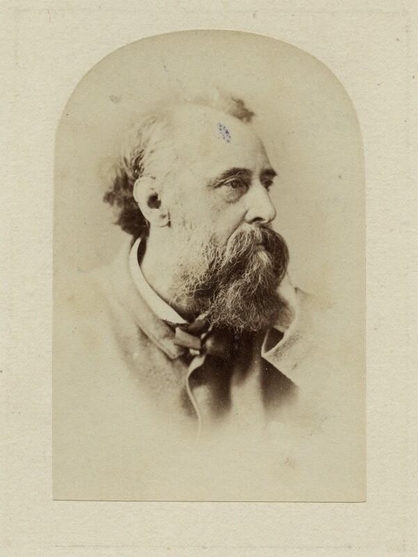George Frederic Watts, by Elliott & Fry, circa 1870 - NPG x27302 - © National Portrait Gallery, London