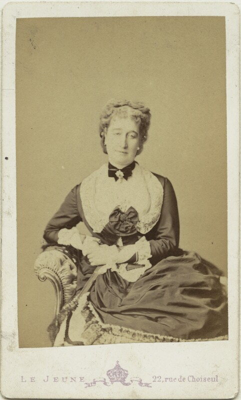 Eugénie, Empress of France, by Augustin Aimé Joseph Le Jeune, 1870s - NPG x74329 - © National Portrait Gallery, London