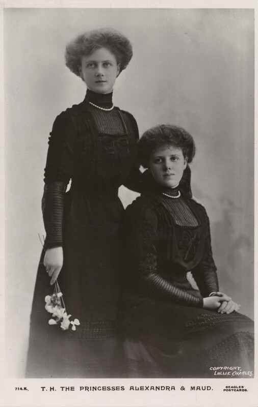 The daughters of Princess Louise, Duchess of Fife, by Lallie Charles (née Charlotte Elizabeth Martin), published by  J. Beagles & Co, early 1910s - NPG x131008 - © National Portrait Gallery, London