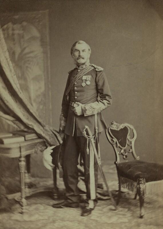 Sir Richard Strachey, by Unknown photographer, 1870s - NPG x13856 - © National Portrait Gallery, London