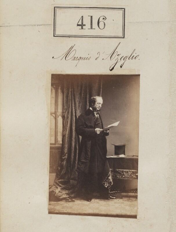 Victor Emmanuel Taparelli, Marchesi d'Azeglio, by Camille Silvy, 1860 - NPG Ax50163 - © National Portrait Gallery, London