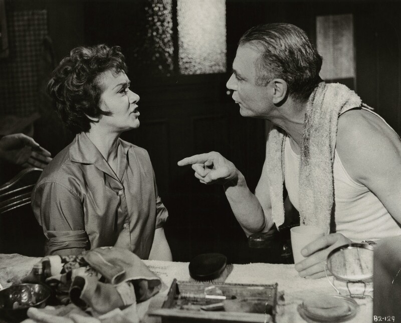 Joan Plowright and Laurence Olivier in 'The Entertainer', by Bert Cann, 1960 - NPG x45058 - © MGM Studios