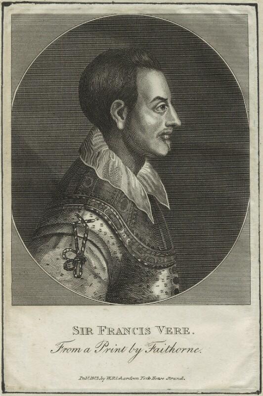Sir Francis Vere, published by William Richardson, after  William Faithorne, published 1812 - NPG D25396 - © National Portrait Gallery, London