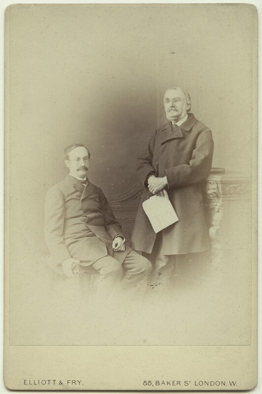 Sir John Strachey; Sir Richard Strachey, by Elliott & Fry, 1876 - NPG x13858 - © National Portrait Gallery, London