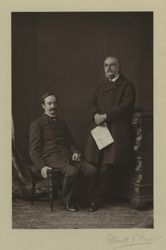 Sir John Strachey; Sir Richard Strachey, by Elliott & Fry, 1876 - NPG x13857 - © National Portrait Gallery, London