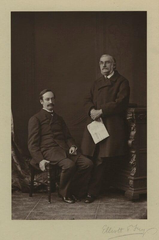Sir John Strachey; Sir Richard Strachey, by Elliott & Fry, 1876 - NPG x13857 - © National Portrait Gallery, London