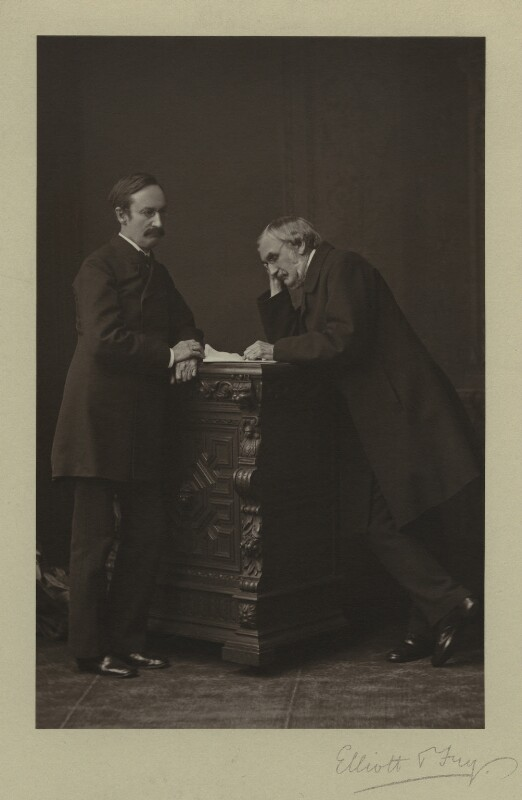 Sir John Strachey; Sir Richard Strachey, by Elliott & Fry, 1876 - NPG x13066 - © National Portrait Gallery, London
