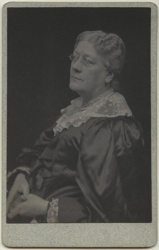 Jane Maria (née Grant), Lady Strachey, by Frederick Hollyer, 1890s - NPG x13044 - © National Portrait Gallery, London