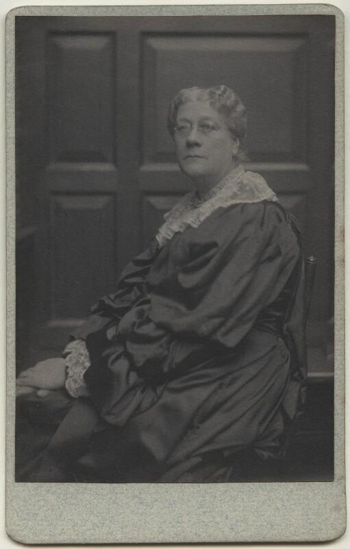 Jane Maria (née Grant), Lady Strachey, by Frederick Hollyer, 1890s - NPG x13047 - © National Portrait Gallery, London