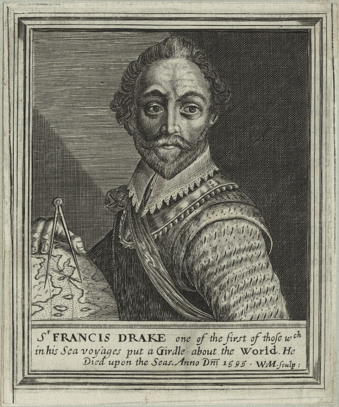 Sir Francis Drake, by William Marshall, 1648 - NPG D25413 - © National Portrait Gallery, London