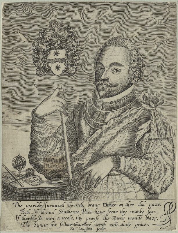 Sir Francis Drake, by Robert Vaughan, probably mid 17th century - NPG D25414 - © National Portrait Gallery, London