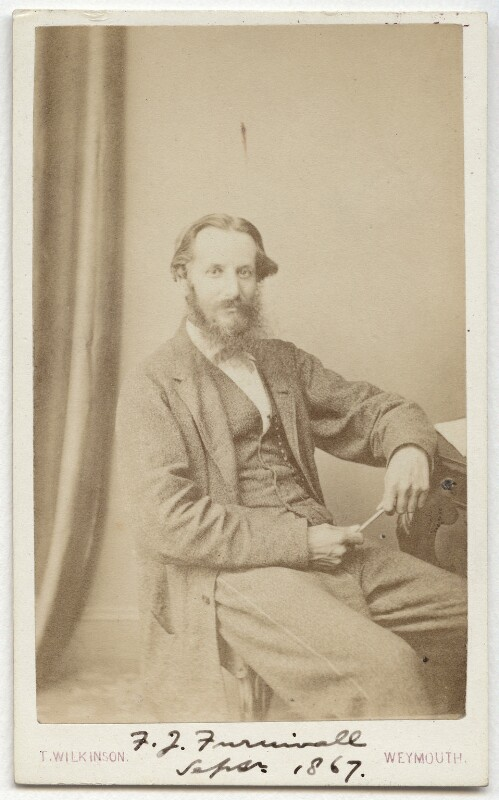 Frederick James Furnivall, by Thomas Wilkinson, September 1867 - NPG x32145 - © National Portrait Gallery, London